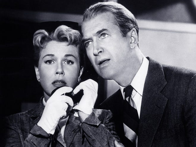 """Doris Day and Jimmy Stewart in """"The Man Who Knew Too Much."""""""