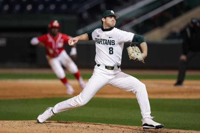Michigan State pitcher Sam Benschoter has found some new confidence in the fifth season of eligibility he received after last year was postponed due to the coronavirus.