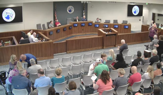 Several citizens spoke during the public hearing at the July 14 Ascension Parish Planning Commission meeting in Gonzales.