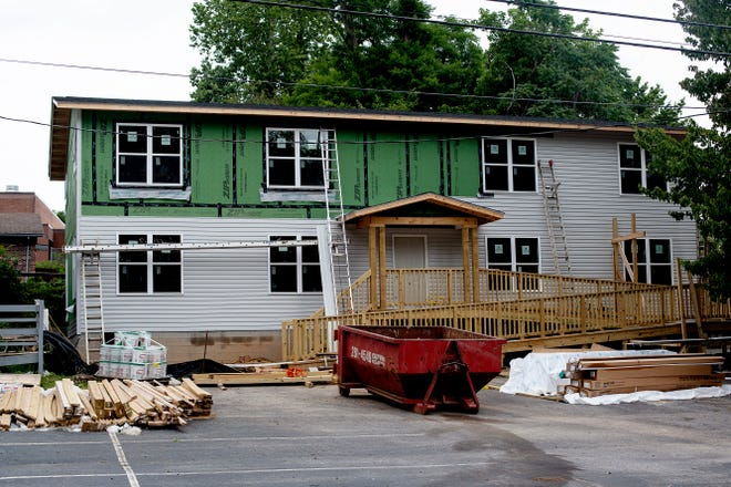 Sixteen apartments are under construction at 305 Eighth Avenue in Hendersonville.
