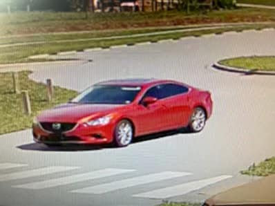 """The Henderson County Sheriff's Office is seeking the public's assistance in identifying the driver of this vehicle after a """"smash and grab"""" incidentatMills River Park."""