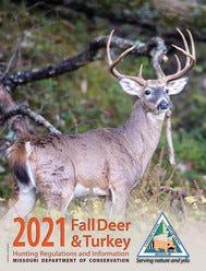 İzinlerin satıldığı 2021 için yeni MDC Balıkçılık ve Düzenlemeler Bilgi El Kitabı, çevrimiçi olarak mdc.mo.gov/about-us/about-regulations/fall-deer-turkey-hunting-regulations-information adresinde bulunabilir.