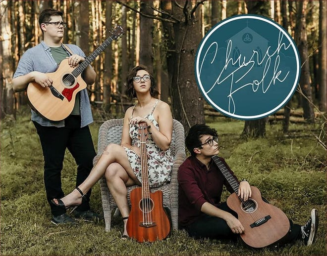 Seth Wilson, Katie Wilson, and Nate Hutchings make up the group Church Folk.