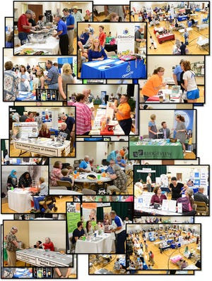 These images show the 2019 Anderson County Community Resource Fair.