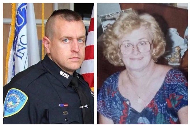 Weymouth police Sgt. Michael Chesna and Vera Adams were killed on July 15, 2018.