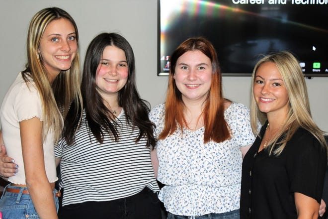 Alyssa Deschenes, Emily Kilrow, Allison Meighan and Gianna Conti won a gold medal in the national SkillsUSA competition.