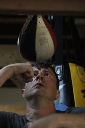Andrew Sharp of Durham is getting ready for his second amateur boxing match at age 46.