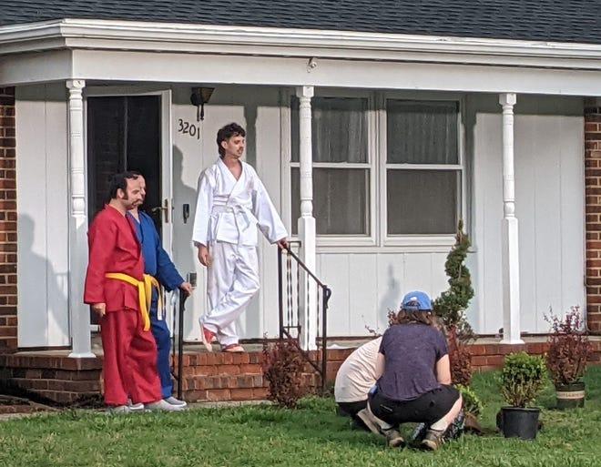 "Indie flick ""Tapawingo"" filming in Hopewell, Va. on June 10, 2021."