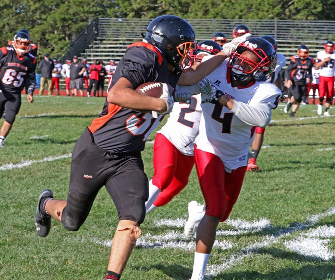 The West Warwick football team, shown in a 2019 game against Tolman, will now be led by former North Smithfield coach Wes Pennington.