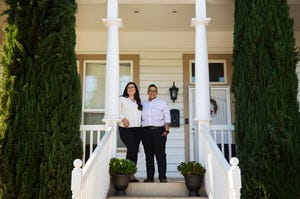 Apple has deployed more than $1 billion for affordable housing across the state, creating housing opportunities for thousands of Californians, including Taylor Mestres and Keteria Lara, pictured at their new home in Stockton.
