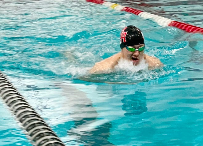 """Michael """"Skip"""" Holmes is a two-time Standard-Times Boys Swimmer of the Year."""