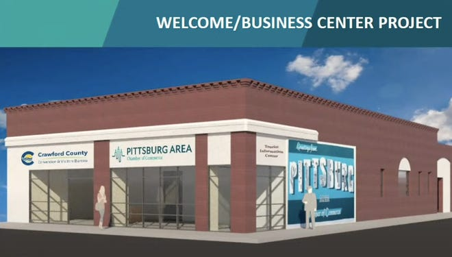 An artist's rendering of what the upgraded Pittsburg Area Chamber of Commerce building will look like