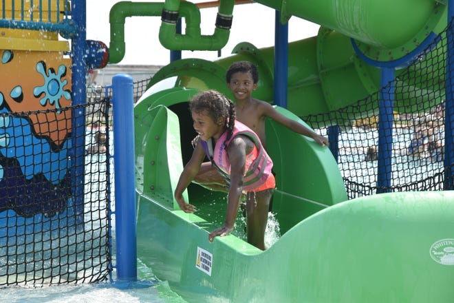 Local youth enjoys some time at the Watertown Family Aquatics Center Thursday afternoon.