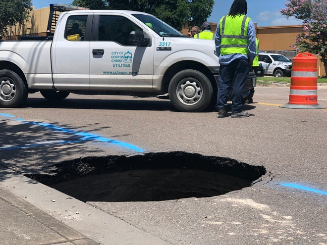 A sinkhole has emerged near the intersection of Betty Jean Drive and Williams Drive.