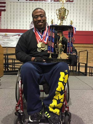Lorenzo Gaines, 30 played basketball for the Detroit Wheelchair Pistons.