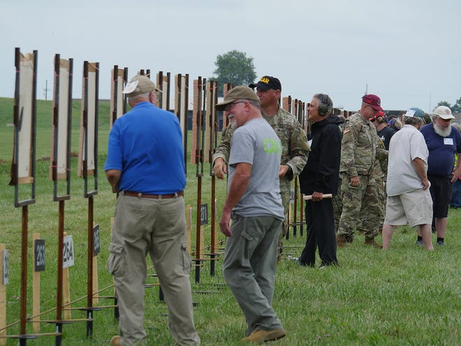 The target frames, manufactured locally, are so sturdy that they do not require stabilizing stakes.