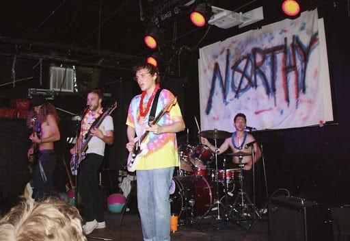 Northy (Tyler Adkins, Caleb Wilson, Noah Landress and Ben Schor) performing in June.