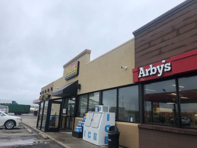 """A Pilot Travel Center, 13712 Northwestern Ave., Franksville, is seen Thursday, July 15, 2021. The gas station includes an Arby's restaurant and a truck stop. A Hartland man shot and killed 22-year-old Anthony """"Nino"""" Griger of Elkhorn while Griger was pumping gas Tuesday morning."""