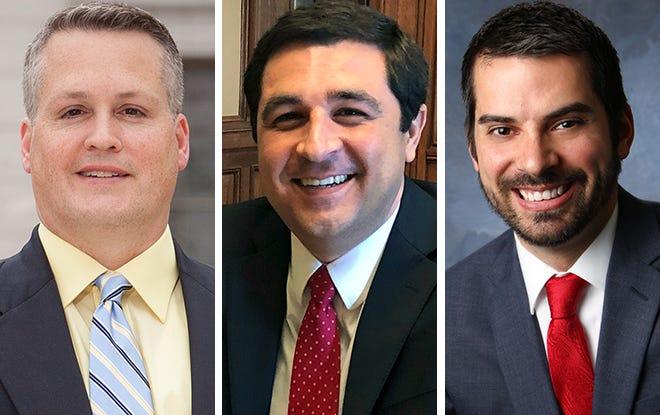UW-Madison professor Ryan Owens, left, Attorney General Josh Kaul, center, and Fond du Lac County District Attorney Eric Toney, right.