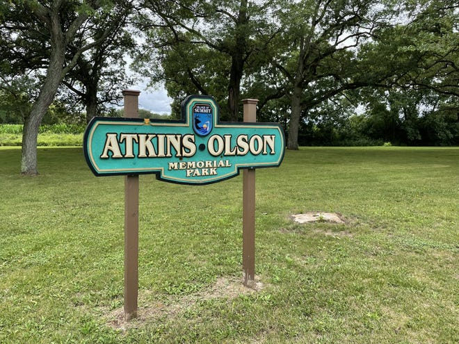 A man was found dead at Atkins-Olson Memorial Park in the village of Summit.