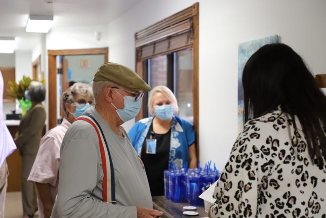 A Mountain Home resident takes a tour of Boston Mountain's new medical clinic. The clinic will begin to provide same day Covid-19 as well as vaccinations on Monday.
