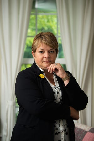 Dr. Michelle Fiscus, the former top vaccination official at the Tennessee Department of Health, believes her recent firing was politically motivated. She is seen here at her home in Franklin, Tenn., Wednesday, July 14, 2021.