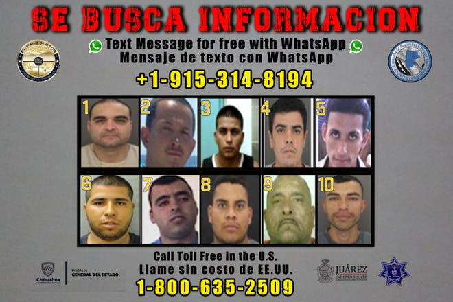 """The United States and Mexico have announced 10 new criminal targets for their """"Se Busca Información"""" initiative."""