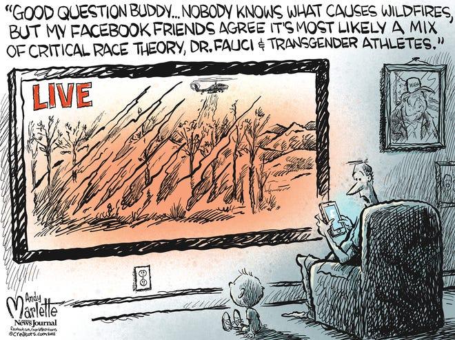 Marlette cartoon: Land of the free-dumb