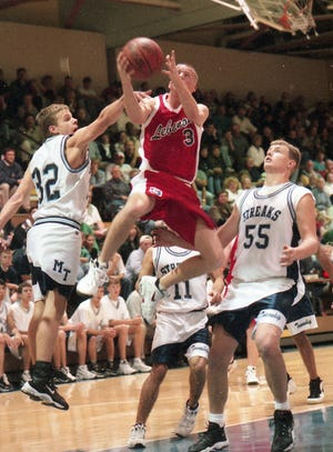 Lebanon's high-flying during the Cedars' glory days of the late 1990s, Pat Daly, is the boys' winner of the poll to determine Lebanon County's greatest basketball players of the last 50 years.