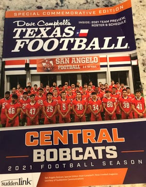 The seniors on the 2021 San Angelo Central High School football team are on the cover of a special commemorative edition of Dave Campbell's Texas Football magazine.