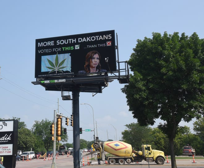 Citizens for a Better South Dakota have purchased billboard ads at 16 locations to run over the next month that aim to criticize Gov. Kristi Noem for using taxpayer dollars to oppose voter-approved legalization of marijuana.