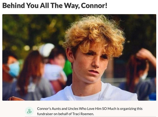 GoFundMe page for Connor Roemen