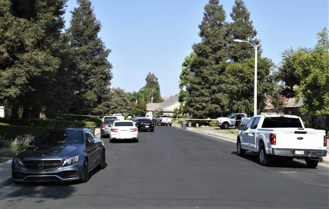 Visalia police investigate a domestic dispute on Wednesday, July 14, 2021.
