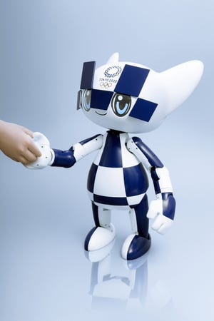This year, there will be two mascot robots intended to welcome visitors at the Olympics,