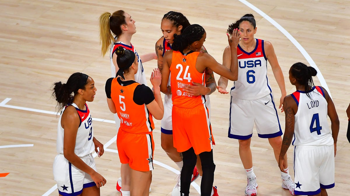 WNBA All-Star team defeats U.S. women's Olympic basketball team in All-Star Game
