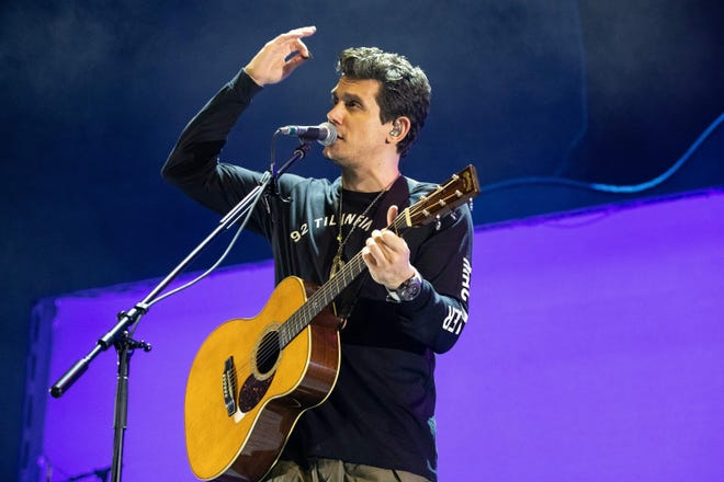 """Singer-songwriter John Mayer performs onstage during his """"World Tour 2019"""" at the AT&T Center on Sept. 7, 2019, in San Antonio."""