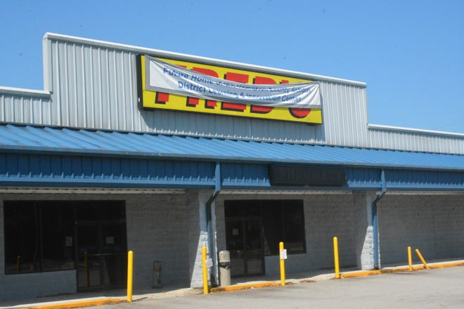 A recently approved bond will help the local school district convert this former Fred's retail space into office and instructional space.