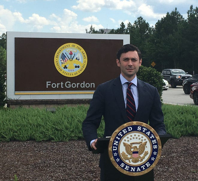 """""""Our objective is to make sure that the inclusion of provisions that will help families in Georgia get the health care, health insurance they deserve despite our state's refusal to expand Medicaid,"""" Sen. Jon Ossoff said during a visit Friday, July 16, to Fort Gordon."""