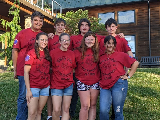Pictured are the Union Local FFA members who attended Ohio Leadership Camp. They include, l to r, Heidi Hull, Hayley Hull, Charlee Daugherty, Kaylin Burgess; and back row, Carson Phillips, Robby Saffell, Miles Burkhart, Frankie Saffell.