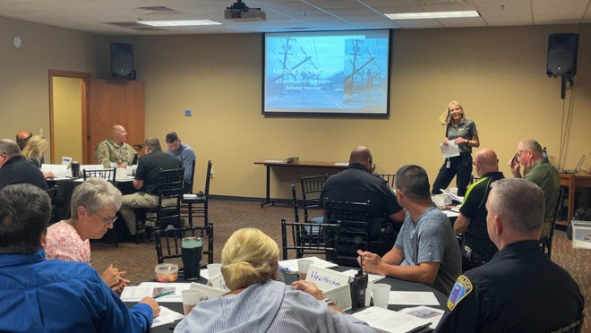 """""""Keeping the Lights On: A Continuity of Operations Tabletop Exercise"""" was sponsored by Butler County Emergency Management.  Director Keri Korthals was the exercise facilitator."""
