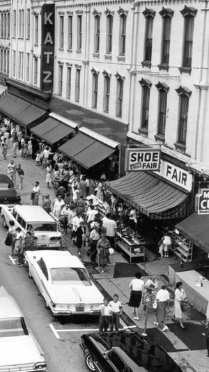 Sidewalk Sales in Honesdale. Thousands of shoppers from as far away as New York and New Jersey would pack the town for this summer event.