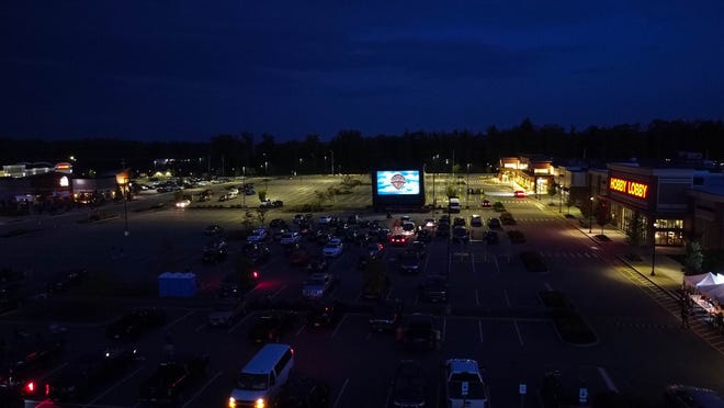 Drive-in movies at The Ridge shopping plaza in Rochester are being offered on Sunday nights.