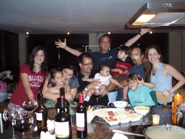 The LaFont family and friends spending time in the Champlain Towers South condo Unit. 801.