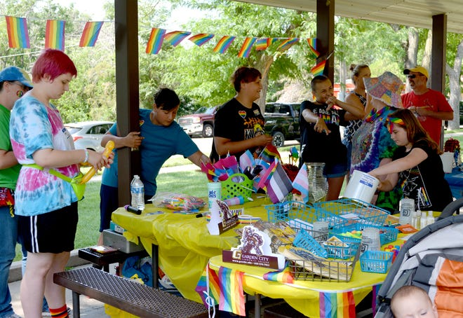 Playchella, a LGBTQ+ festival, held its first event July 10 in Deerfield. One of the activities during the day was a kids crafts and face and body paint at City Park.