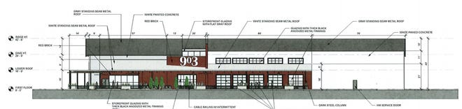 An artist rendering shows plans for a new 903 Brewery that could be developed along FM 1417.