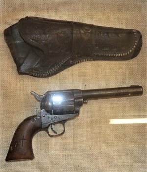 This pistol, smuggled into the Dickens County Jail, was probably the weapon used to murder Sheriff Bill Arthur.