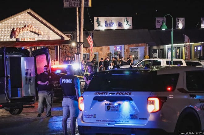 Scenes from a deadly shooting on the Lake Ozark Strip Thursday, July 15.