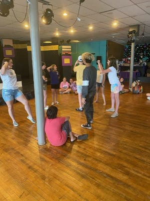 """Campers rehearse for """"Willy Wonka Jr."""""""