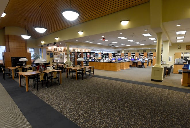 Portions of the carpeting inside Bedford Branch Library will soon be replaced as part of a series of aesthetic and mechanical upgrades to the 17-year-old building.