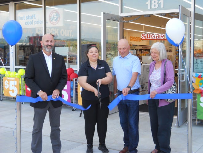 Oak Ridge City Council member Jim Dodson, from left, Five Below store manager Jennifer Griffin, district manager Bradley Toon and City Council member Ellen Smith at the ribbon cutting for the new Five Below location in Oak Ridge.
